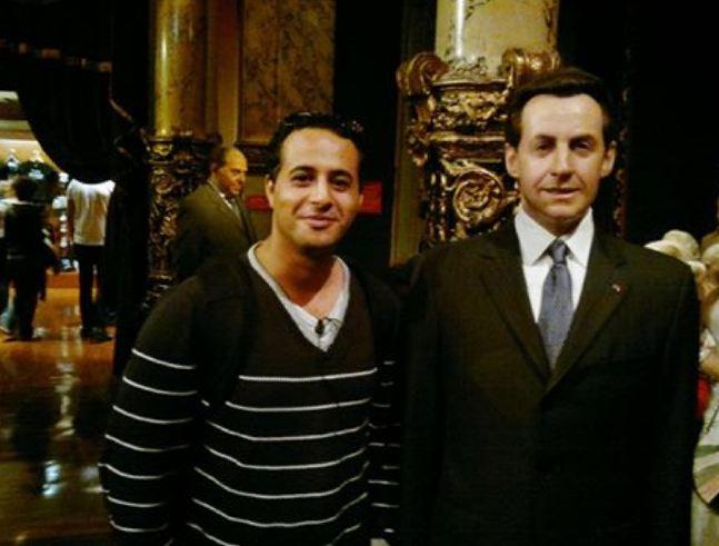 انا والرئيس الفرنسي السابق ساركوزي