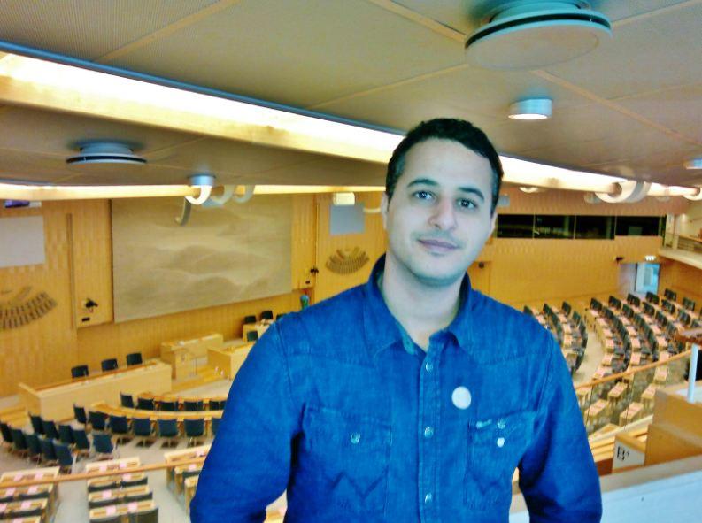 انا في البرلمان السويدي